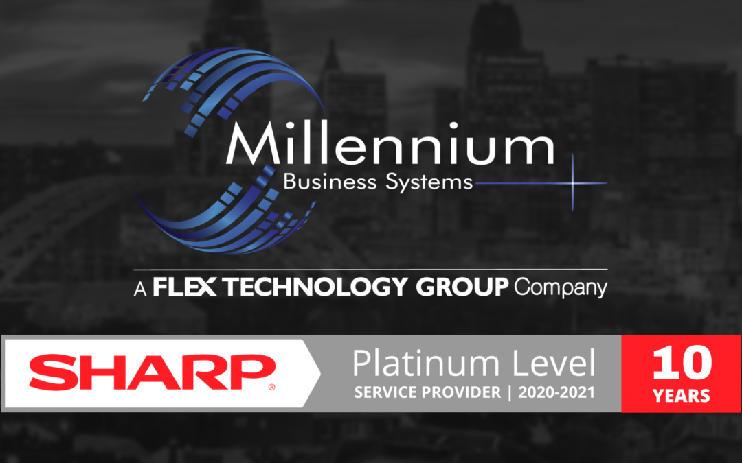 Millennium Business Systems Recognized with Sharp AAA Platinum Level Service Provider Award 2020-2021